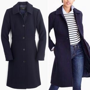 J. Crew Double Cloth Lady Day Coat in Navy